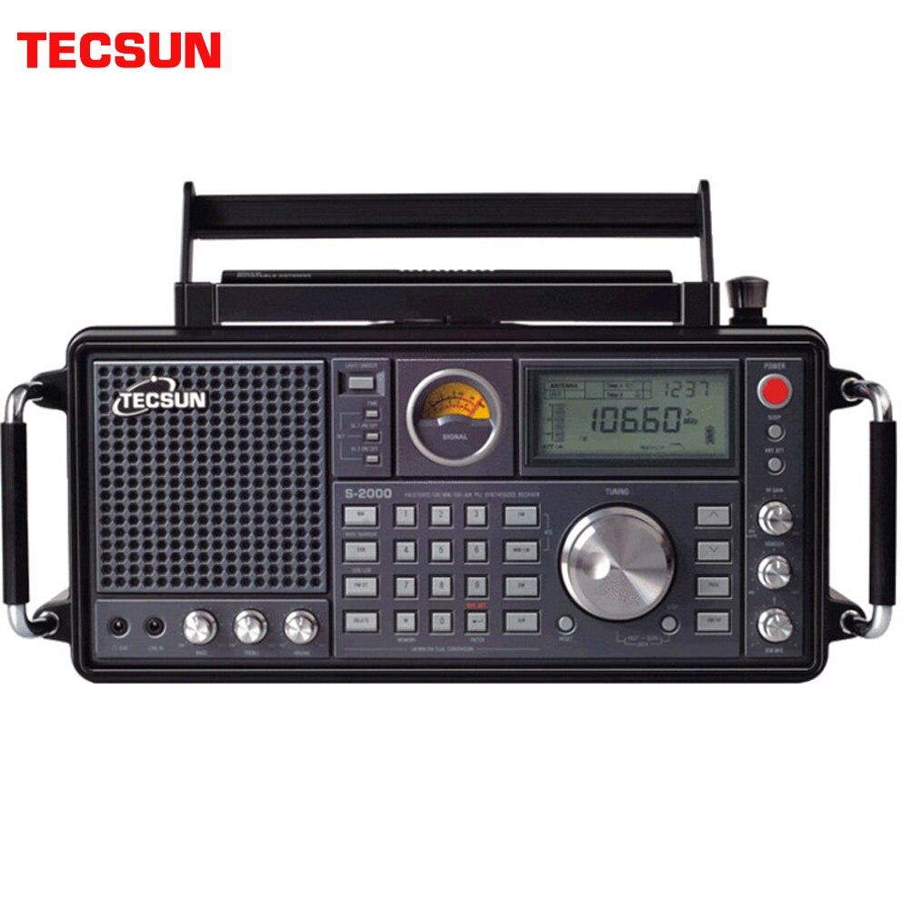 TECSUN S-2000 Amateur Desktop Ham Radio SSB Dual Conversion FM/MW/SW/LW Air Band  High Sensitivity and Good Selectivity Speaker